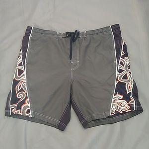 Speedo black & grey swim shorts
